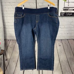 babystyle Maternity Blue Cropped Jean Size: 33